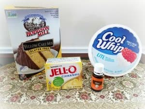 Ingredients for Gluten Free Special Occasion Trifle