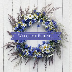 Welcome Friends Wreath