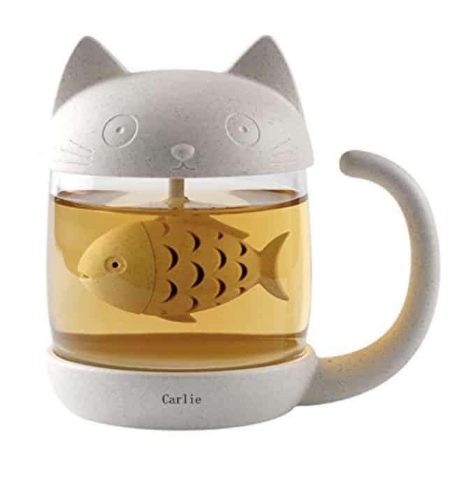 Carlie Cute Cate Glass Tea Mug