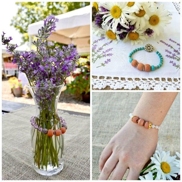 Aromatherapy Bracelets Collage