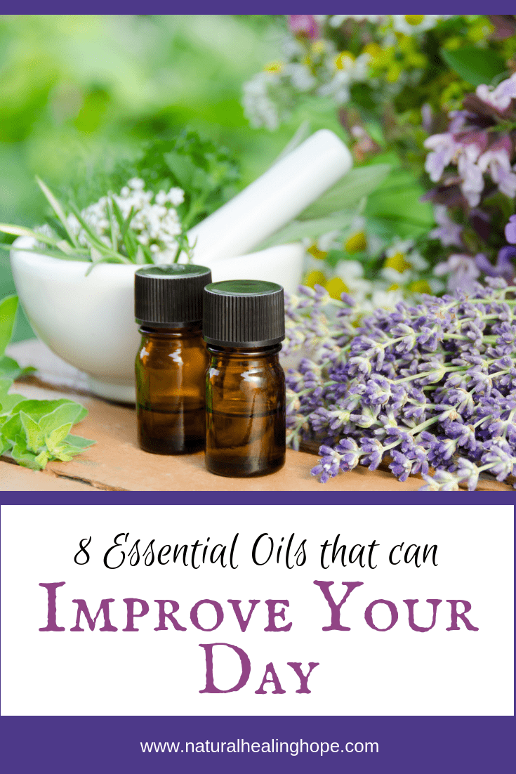 8 Essential Oils That Can Improve Your Day-Pinterest Graphic
