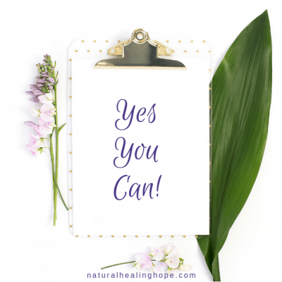 "clip board with ""Yes You Can! on it surrounded by flowers and a leaf"