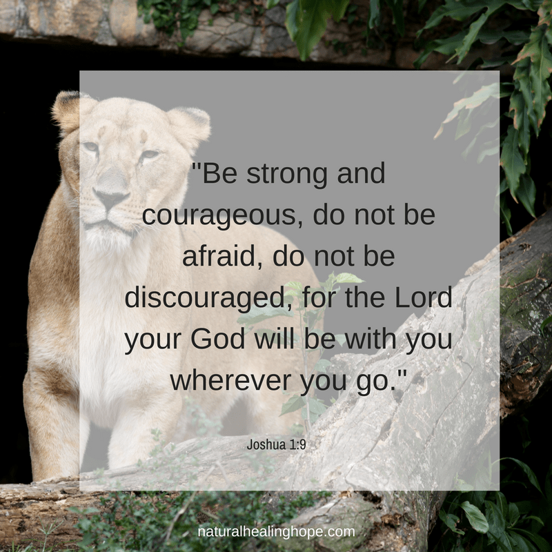 Be strong and courageous verse