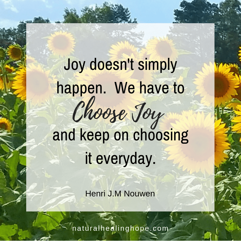 Joy doesn't simply happen. We have to choose joy and keep on choosing it everyday. Quote by Henri J.M. Nouwen