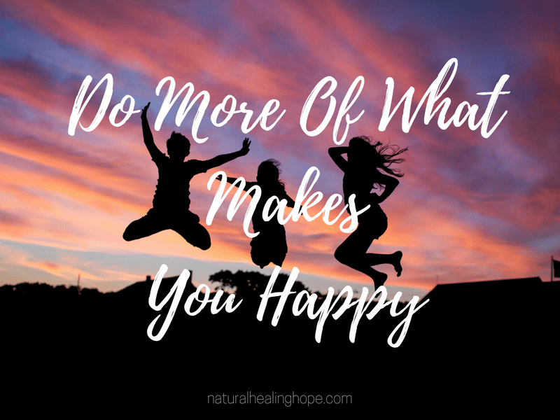 Happiness Challenge: Do More Of What Makes You Happy quote with kids jumping up in the air
