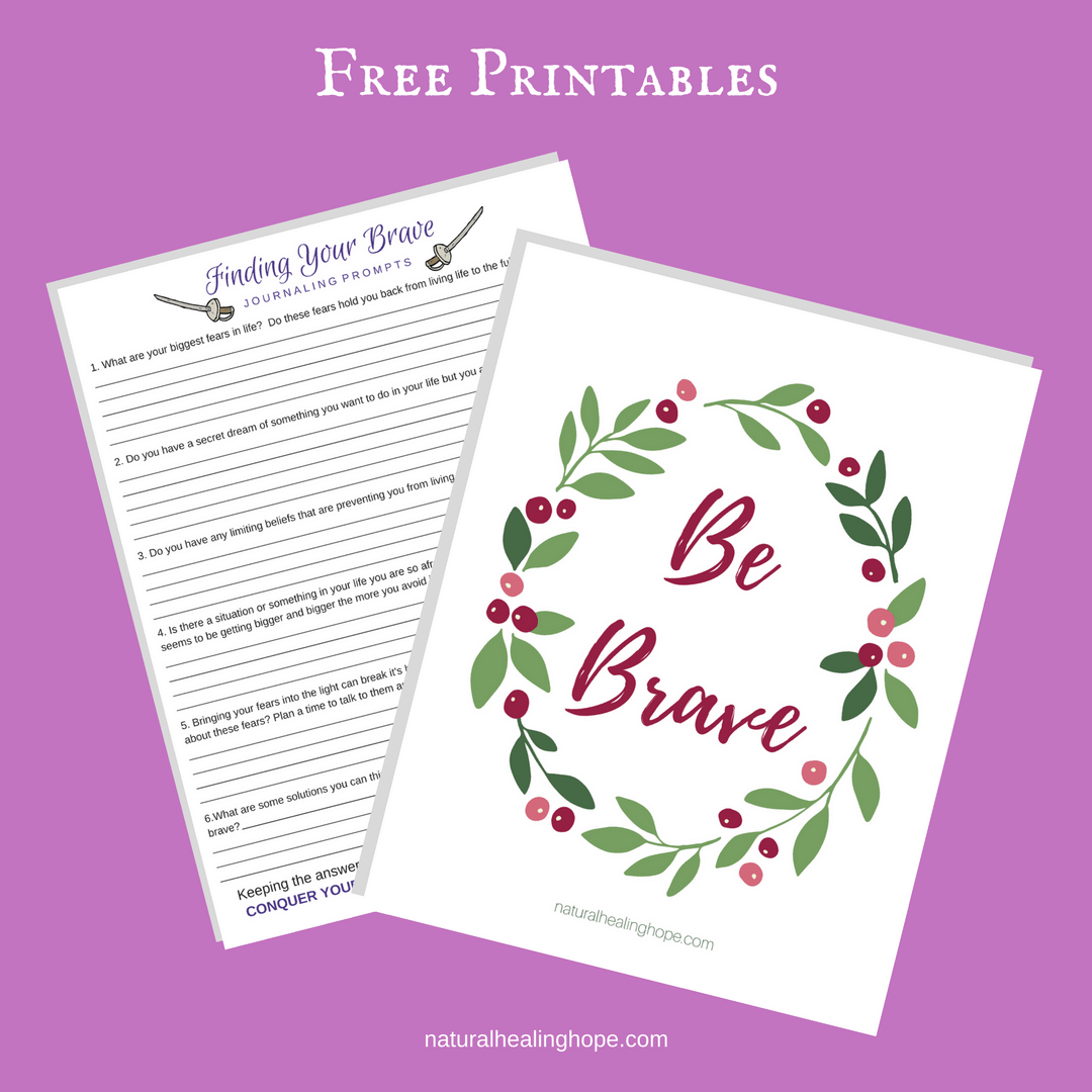 Finding Your Brave-Journaling Prompts & Be Brave Print