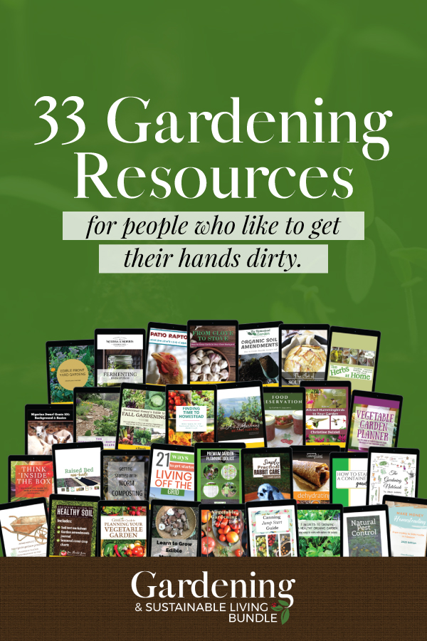 Gardening Resources with text overlay that says: 33 Gardening Resources for people who like to get their hands dirty.