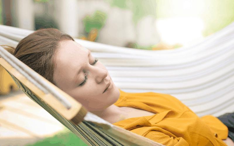 Woman Resting in a Hammock