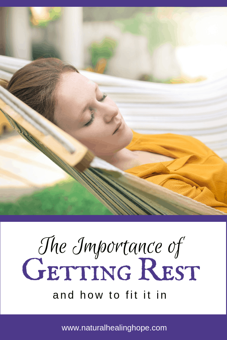 Woman Resting with text overlay that says: The Importance of Getting Rest and How to Fit it In