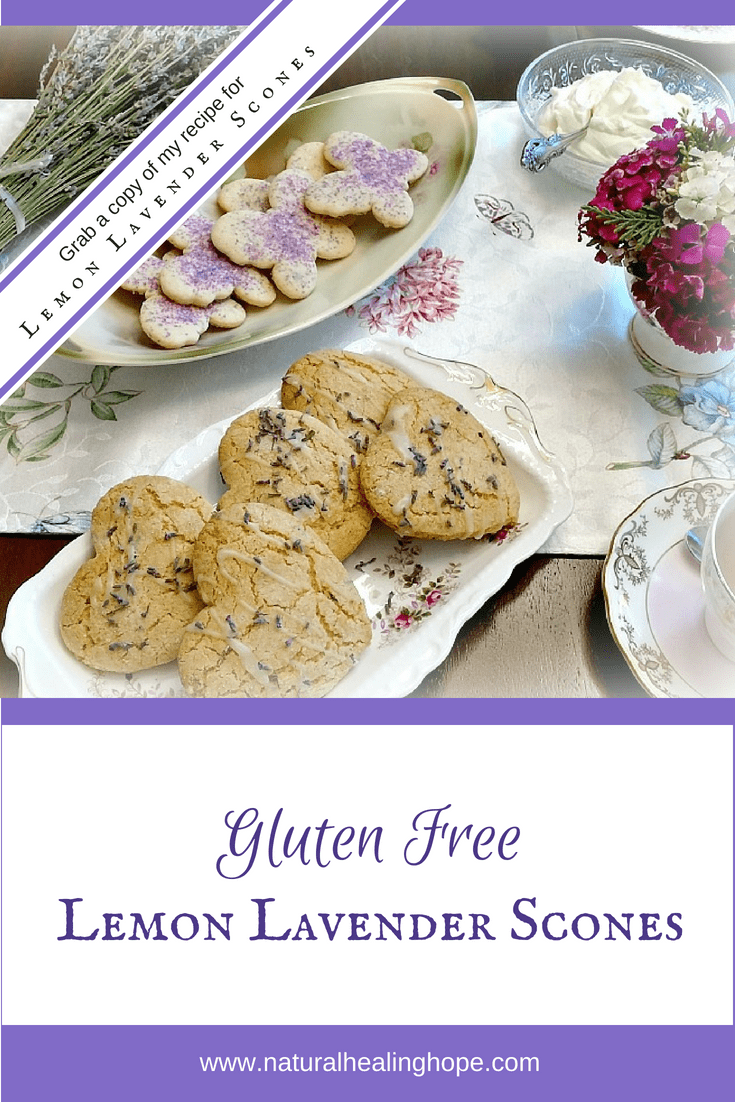 Gluten Free Lemon Lavender Scones