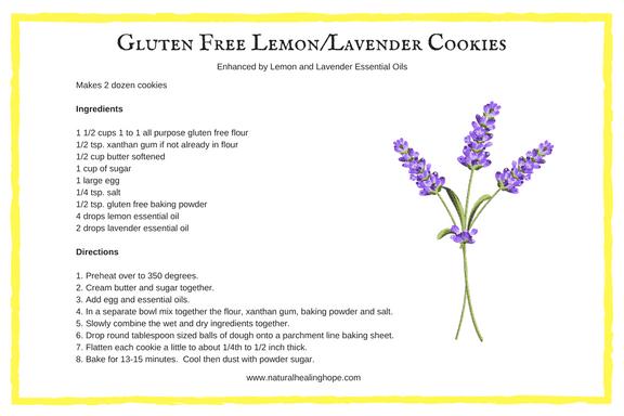 Gluten Free Lemon/Lavender Cookies