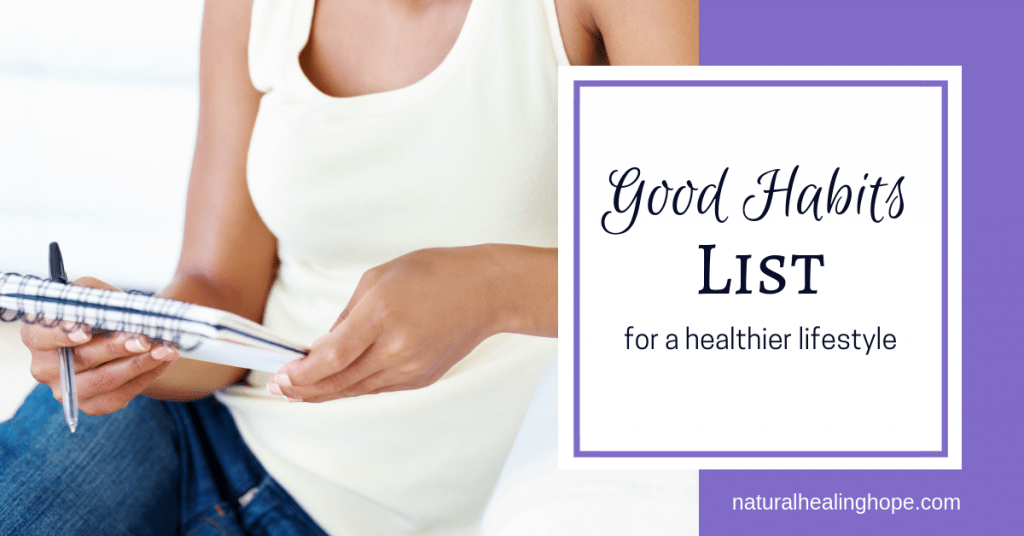 Good Habits List for a Healthier Lifestyle- Facebook Image