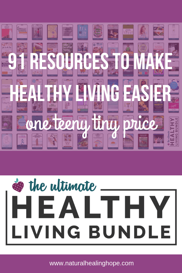 91 resources to make healthy living easier, one teeny tiny price. the ultimate healthy living bundle