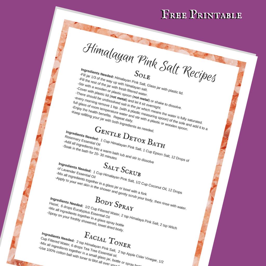 Himalayan Pink Salt Recipes