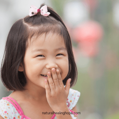 Little Girl Laughing: Laughter is Good Medicine
