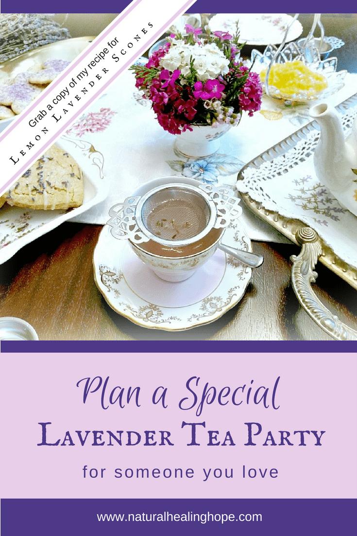 Lavender Tea Party Pinterest Image