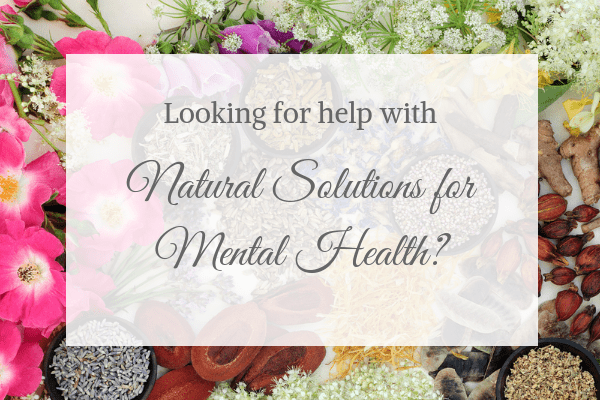 Natural Solutions for Mental Health Info