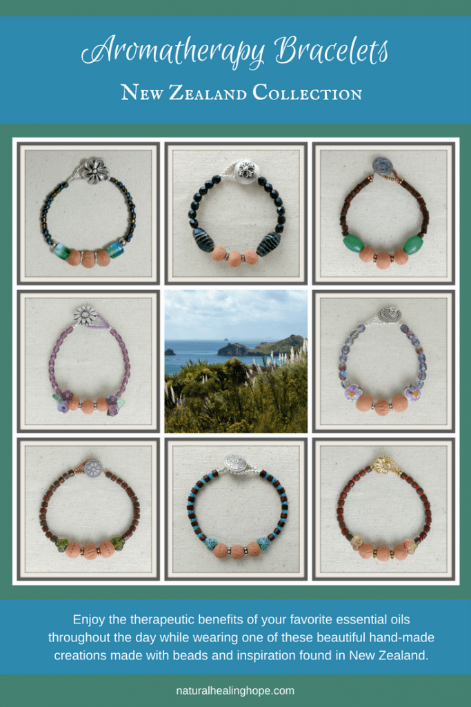 Aromatherapy Bracelets, New Zealand Collection