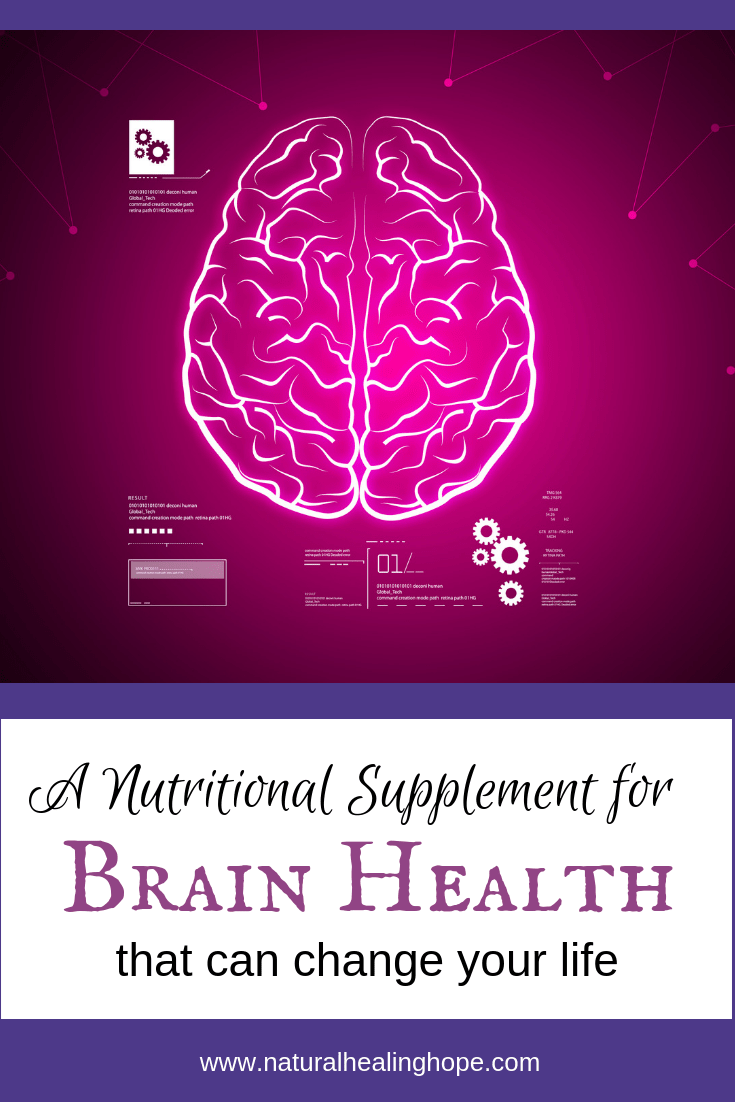 A Nutritional Supplement for Brain Health that can change your life- Pinterest Graphic