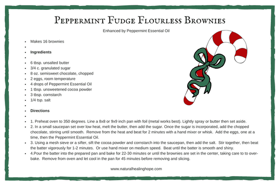 Peppermint Fudge Flourless Brownies