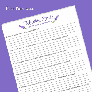 Free Printable: Relieving Stress Journaling Prompts