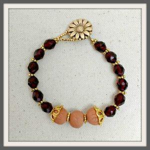 """""""Scarlet"""" Aromatherapy Bracelet"""