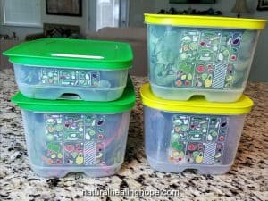 Tupperware Fridge Smart Fresh Produce Containers