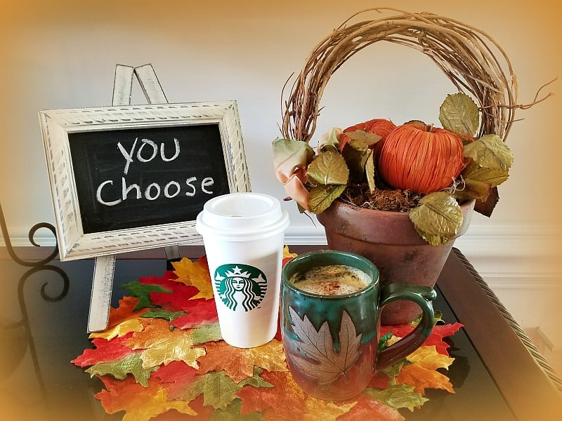 Choose Your Option of Healthy Pumpkin Spice Latte