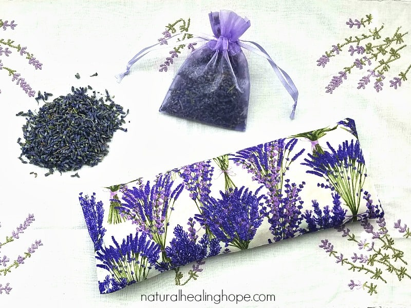 DIY Lavender Eye Pillow (to help with headaches, stress, anxiety and sleep)