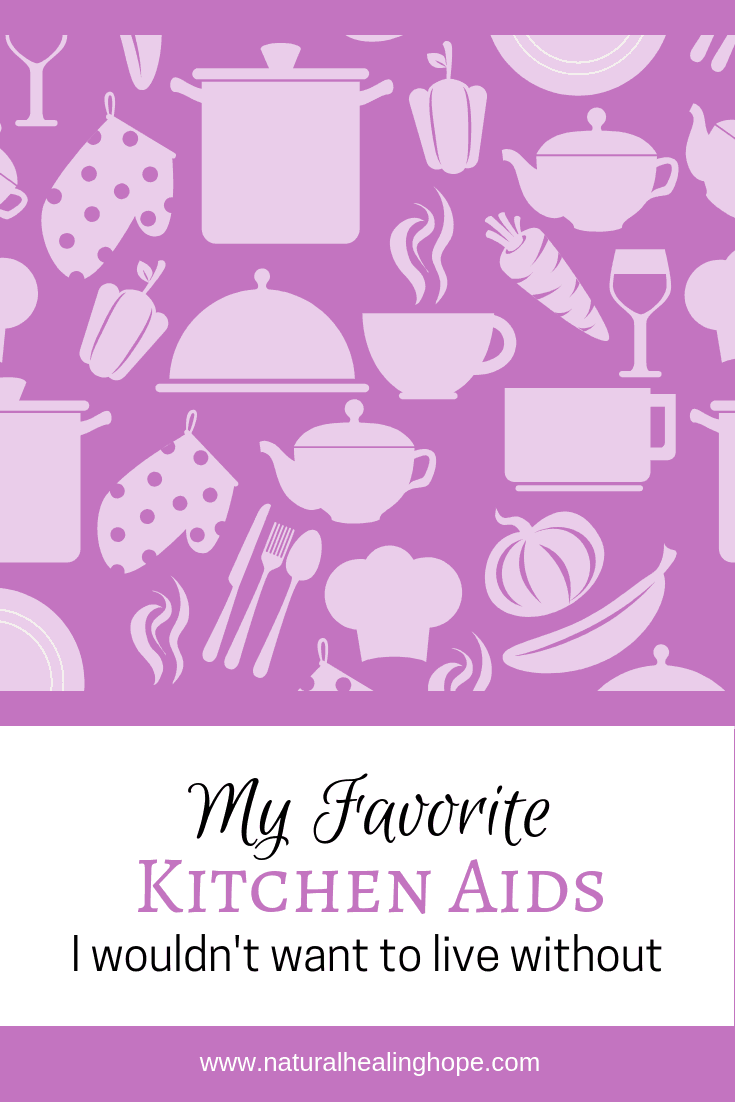 My favorite kitchen aids I wouldn't want to live without-Pinterest image