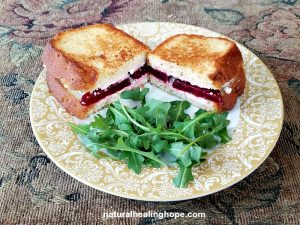 grilled beets & goat cheese sandwich