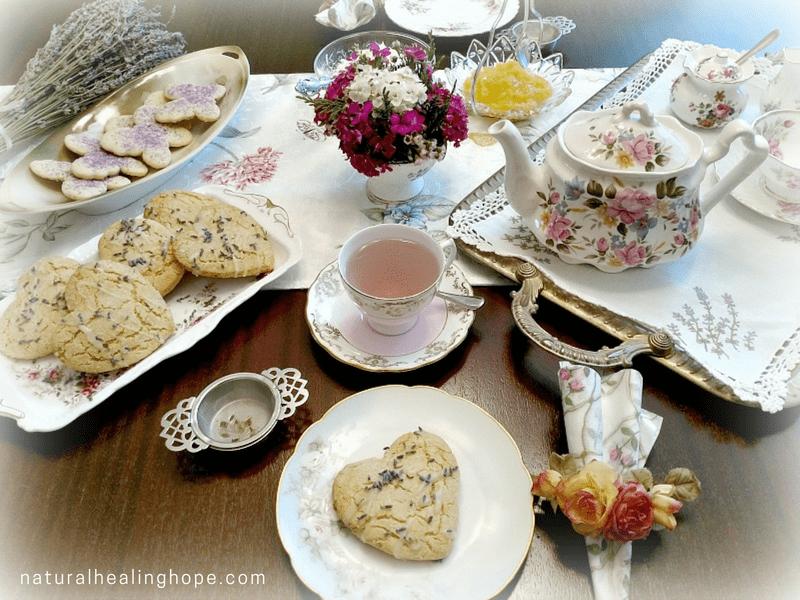 Ready to enjoy our lavender tea party