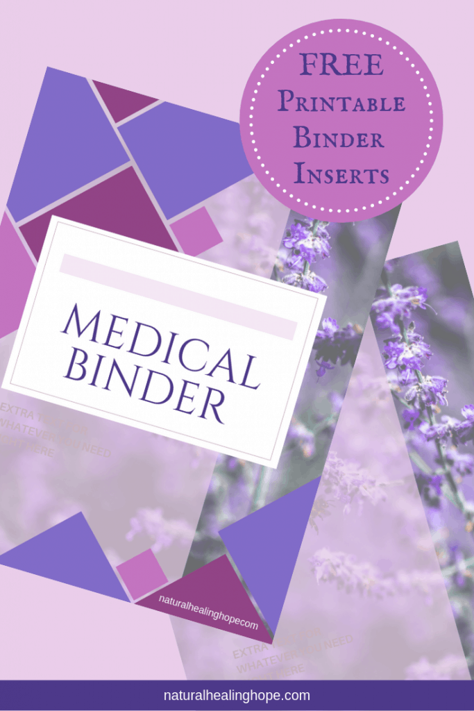 Picture of FREE Medical Binder Cover Inserts