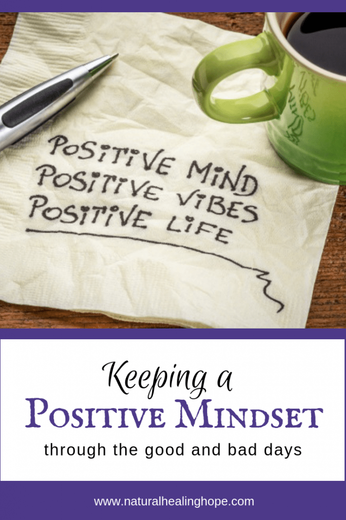 Keeping a positive mindset on good and bad days - Pinterest image