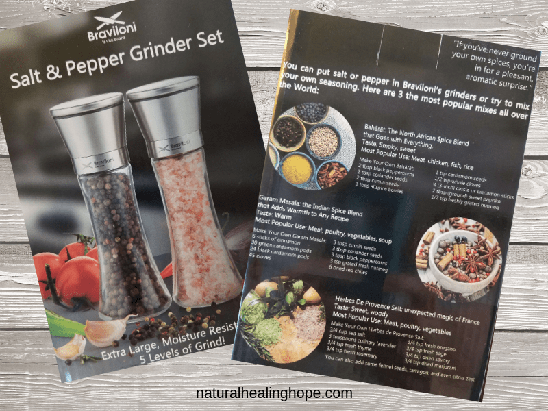 salt & pepper grinder box