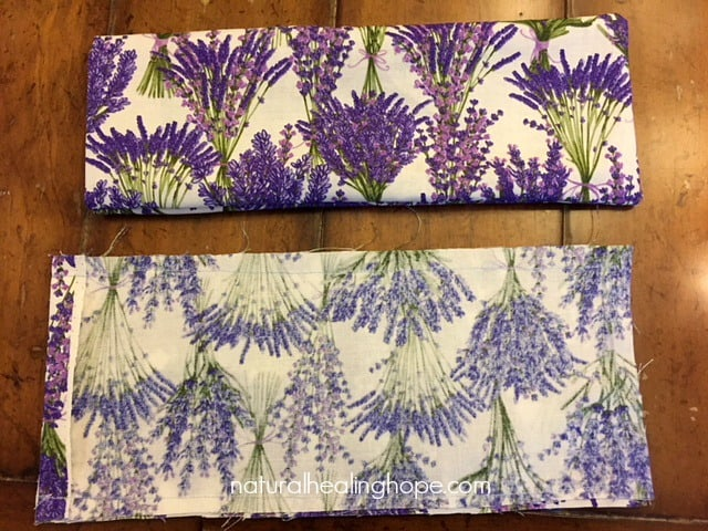 Sewing the DIY Lavender Eye Pillow
