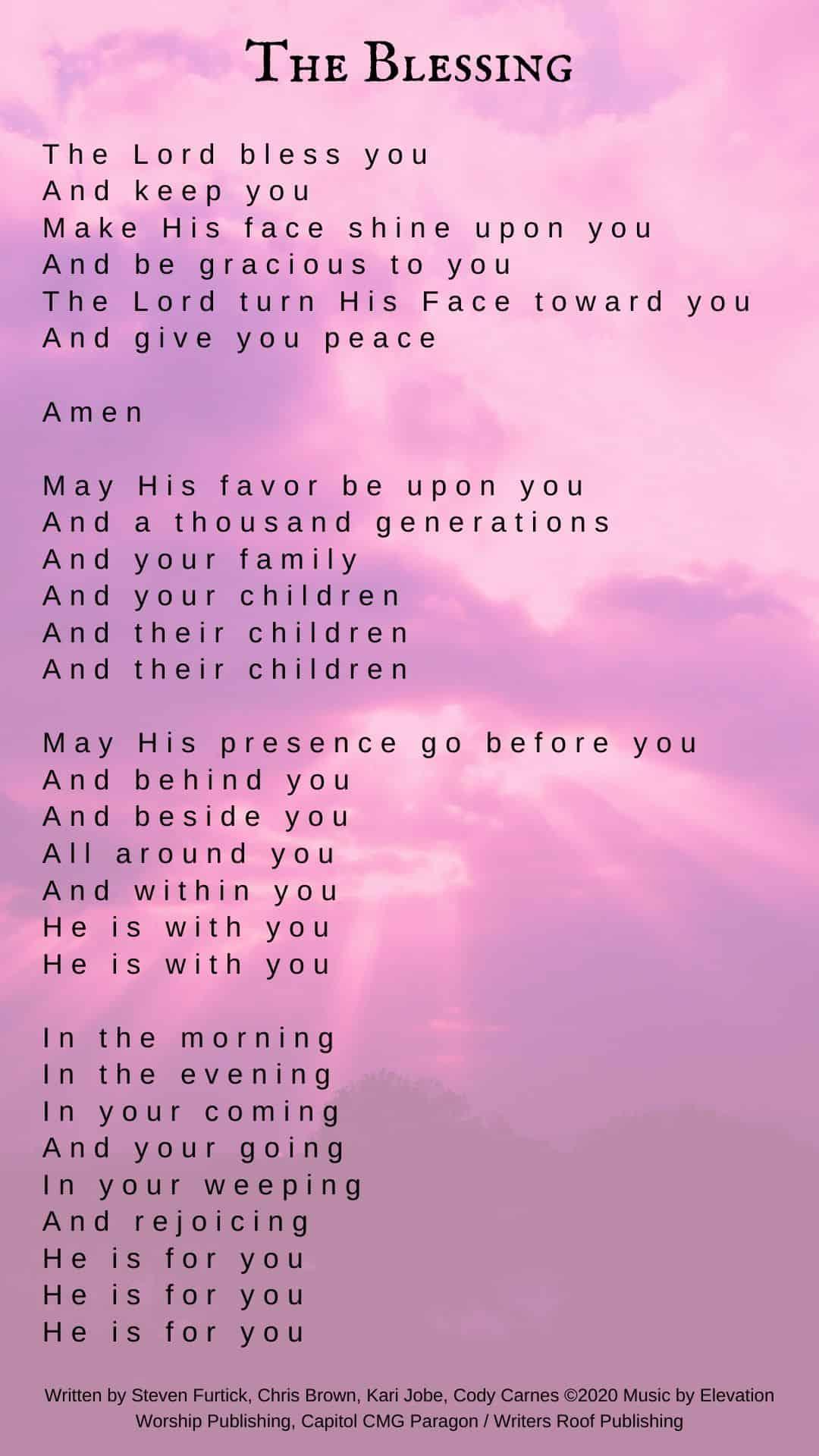 The Blessing Lyrics