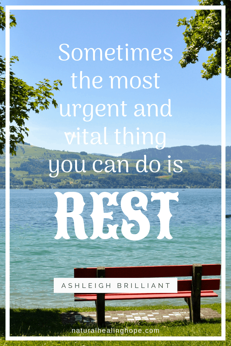 Note: There are different types of rest that is needed in our lives.
